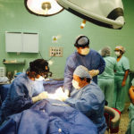 doctors performing surgery for Alegria Foundation
